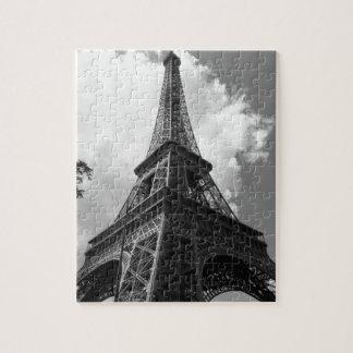 Black & White Eiffel Tower in Paris Puzzle
