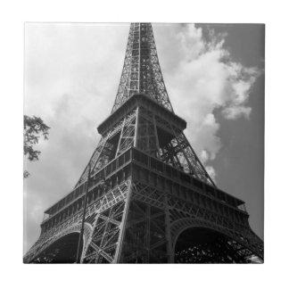 Black & White Eiffel Tower in Paris Tile