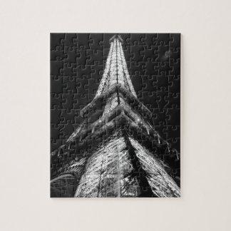 Black White Eiffel Tower Paris Europe Travel Puzzle