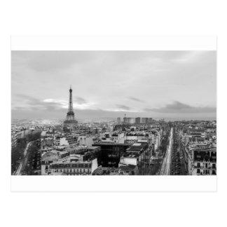 Black&White: Eiffel Tower, Paris, France Postcard