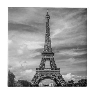 Black & White Eiffel Tower Paris France Tiles