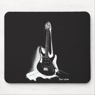 Black & White Electric Guitar - Mousepad