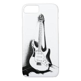 Black & White Electric Guitar - Phone Case