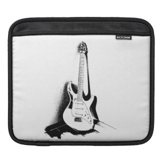 Black & White Electric Guitar - Tablet Sleeve iPad Sleeves