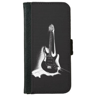 Black & White Electric Guitar - Wallet Case
