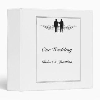 Black White Elegance Groom Gay Wedding Binder