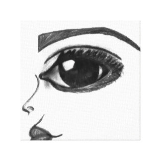 Black & White EYE Canvas Print