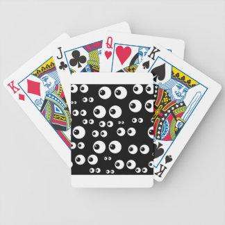 black white eyes poker deck