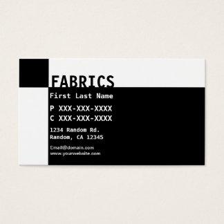 Black white Fabrics business cards