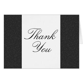 Black & White Filigree Thank You Card