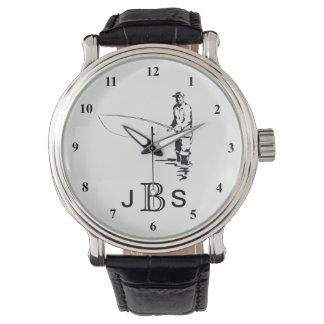 Black White Fisherman | Masculine Monogram Wristwatches