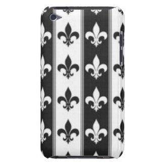 Black White Fleur De Lis Pattern Print Design Case-Mate iPod Touch Case