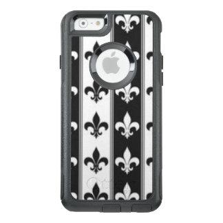 Black White Fleur De Lis Pattern Print Design OtterBox iPhone 6/6s Case