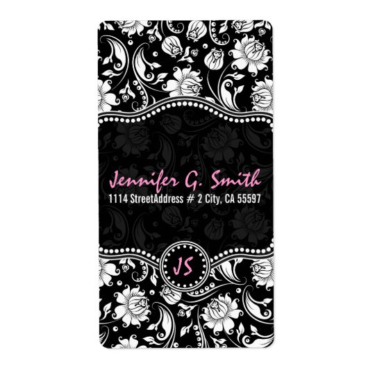 Black & White Floral Damask Pattern 2