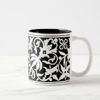 Black & White Floral Design Mug