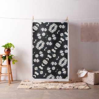 Black & White Floral Fabric