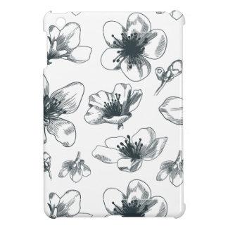 Black & White Floral Pattern iPad Mini Case