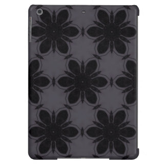 Black&White Flower Pattern iPad Air Cases