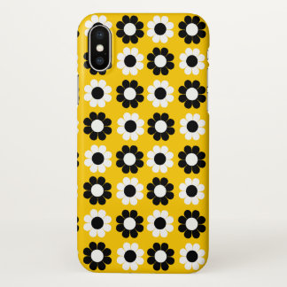 Black & White Flower Power iPhone X Case