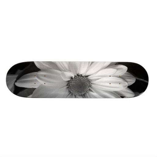Black & White Flower Skateboard
