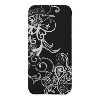 Black & White Flower Swirl Cover For iPhone 5/5S