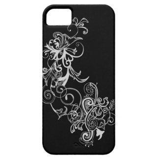 Black & White Flower Swirl iPhone 5 Covers