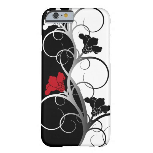 Black/White Flowers iPhone 6 case