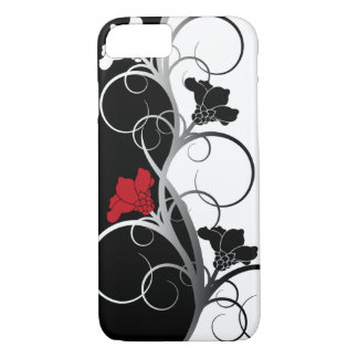 Black/White Flowers iPhone case