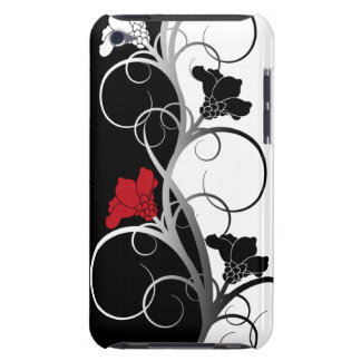 Black/White Flowers iPod Touch 4 Case