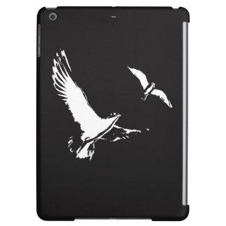 Black & White Flying Birds - iPad Air case