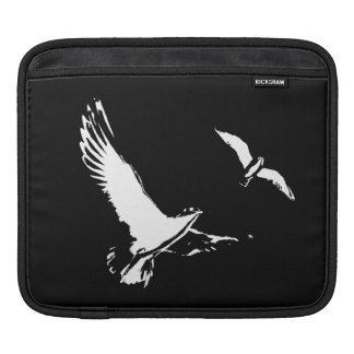 Black & White Flying Birds - Tablet sleeve