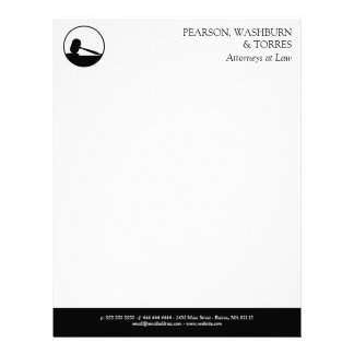 Black & White Gavel Icon Attorneys at Law Letterhead