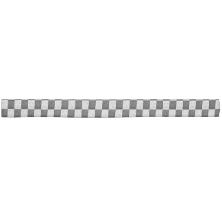 Black & White Geometric Checker Squares - Headband