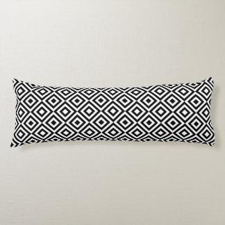 Black & White Geometric Diamond Pattern Body Pillow