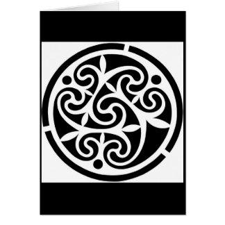 Black & White Geometric Greeting Card
