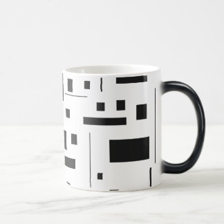 Black & White Geometric Minimal Pattern Futuristic Magic Mug