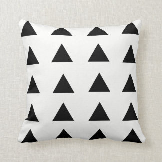 Black & White Geometric Triangle Throw Pillow