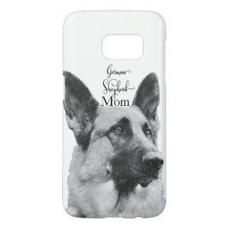 Black & White German Shepherd Mom Samsung Galaxy S7 Case