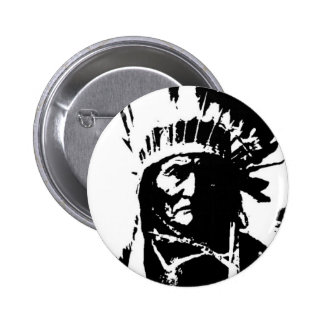 Black & White Geronimo 2 Inch Round Button