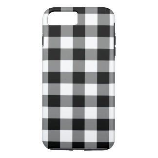 Black & White Gingham Pattern iPhone 8/7 Plus Case