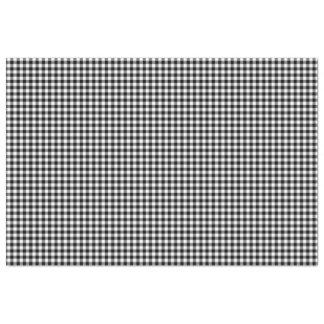 Black & White Gingham Pattern Tissue Paper