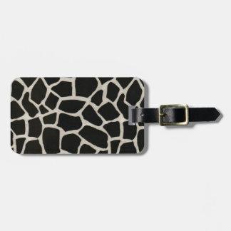 Black & White Giraffe Print Luggage Tag