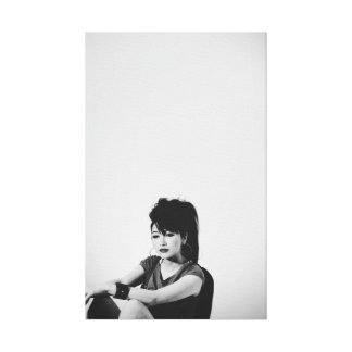 black&white, girl canvas print / ガールキャンバスプリント