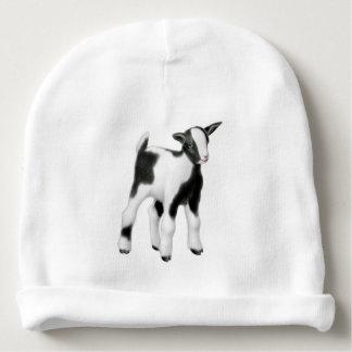 Black White Goat Kid Baby Hat Baby Beanie