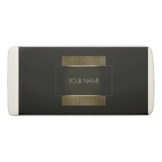 Black White Gold Conceptual Minimal Geometry Eraser