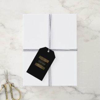 Black White Gold Frame Boutique Minimal Branding Gift Tags