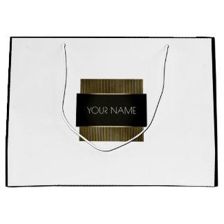 Black White Gold Minimal Luxury Branding Luxury Large Gift Bag