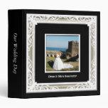 Black, White & Gold Photo Frame Wedding Album Vinyl Binders
