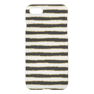 Black White Gold Stripes iPhone 8/7 Case