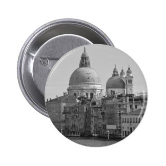 Black White Grand Canal Venice Italy Travel 2 Inch Round Button